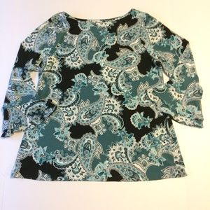 Charter Club Top Ladies Size Large Paisley